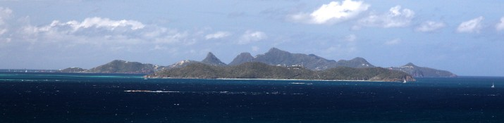 Mayreau and Union from Canouan, Grenadines